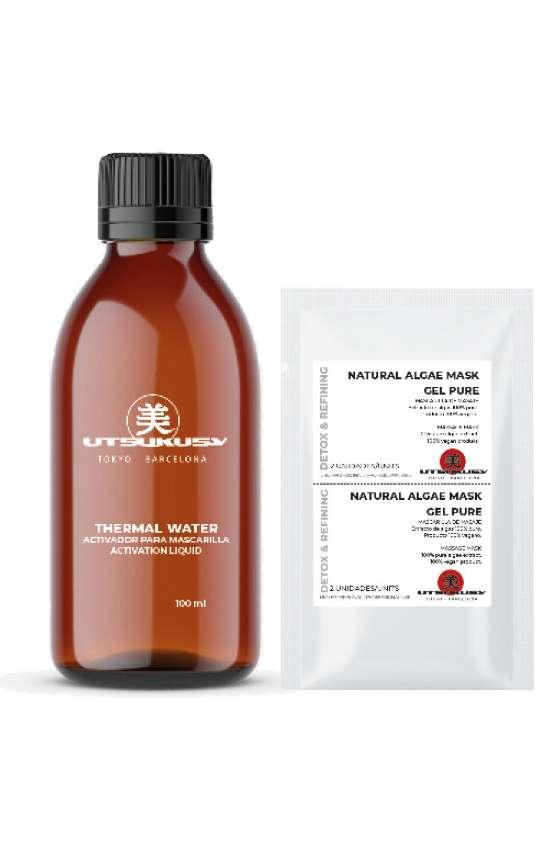 Nach der Anwendung eines Fruchtsäurepeeling empfiehlt sich eine Algenmaske mit Thermalwasser